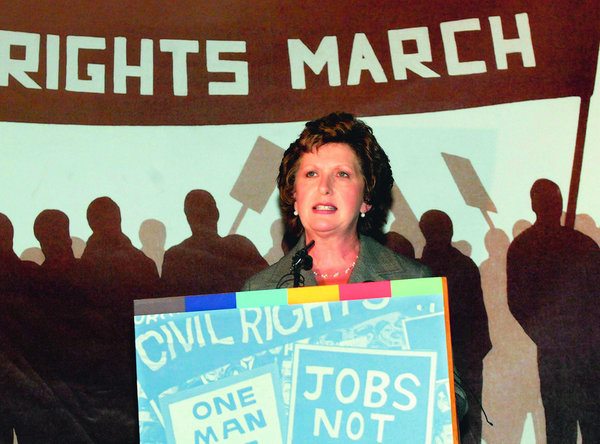 President Mary McAleese in Derry (by Trevor McBride)